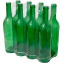 Pudeles vīnam 0,75L, zaļas, 8 gab.